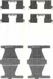 Triscan 8105 141589 - Piederumu komplekts, Disku bremžu uzlikas interparts.lv