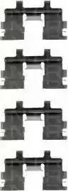 Triscan 8105 141312 - Piederumu komplekts, Disku bremžu uzlikas interparts.lv