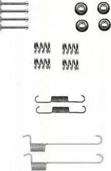 Triscan 8105 142567 - Piederumu komplekts, Stāvbremzes mehānisma bremžu loks interparts.lv