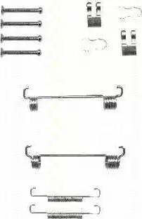 Triscan 8105 102603 - Piederumu komplekts, Stāvbremzes mehānisma bremžu loks interparts.lv