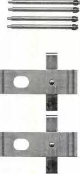 Triscan 8105 111616 - Piederumu komplekts, Disku bremžu uzlikas interparts.lv