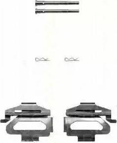 Triscan 8105 281593 - Piederumu komplekts, Disku bremžu uzlikas interparts.lv