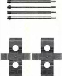 Triscan 8105 231591 - Piederumu komplekts, Disku bremžu uzlikas interparts.lv
