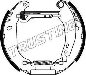 Trusting 6092 - Bremžu komplekts, trumuļa bremzes interparts.lv