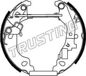 Trusting 6167 - Bremžu komplekts, trumuļa bremzes interparts.lv