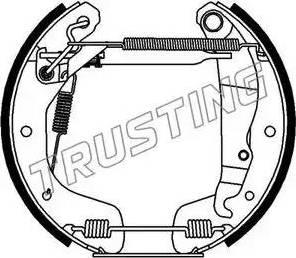 Trusting 6118 - Bremžu komplekts, trumuļa bremzes interparts.lv
