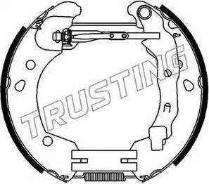 Trusting 6396 - Bremžu komplekts, trumuļa bremzes interparts.lv