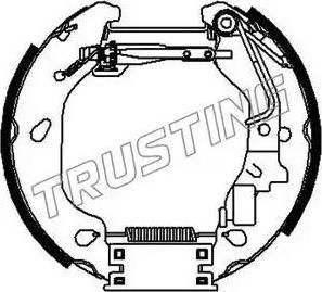 Trusting 6383 - Bremžu komplekts, trumuļa bremzes interparts.lv