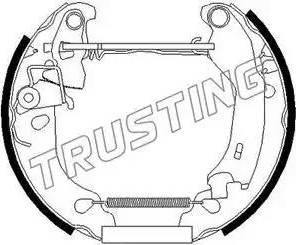 Trusting 625.0 - Bremžu komplekts, trumuļa bremzes interparts.lv
