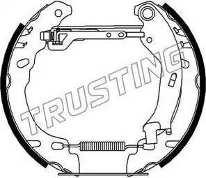 Trusting 6278 - Bremžu komplekts, trumuļa bremzes interparts.lv