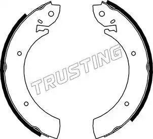 Trusting 040.080 - Bremžu komplekts, trumuļa bremzes interparts.lv