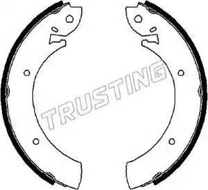Trusting 088.207 - Bremžu komplekts, trumuļa bremzes interparts.lv