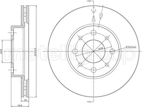 Trusting DF686 - Bremžu diski interparts.lv