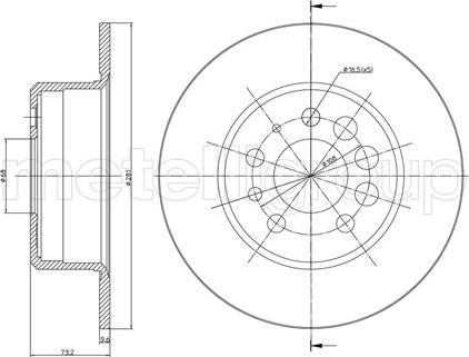 Trusting DF046 - Bremžu diski interparts.lv
