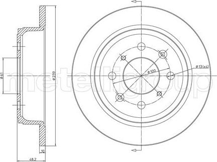 Trusting DF051 - Bremžu diski interparts.lv