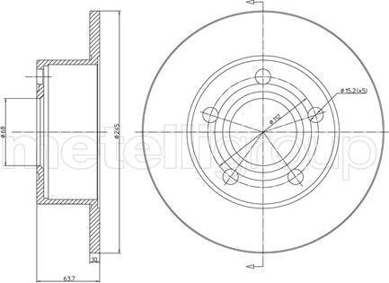Trusting DF060 - Bremžu diski interparts.lv