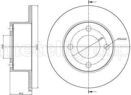 Trusting DF062 - Bremžu diski interparts.lv