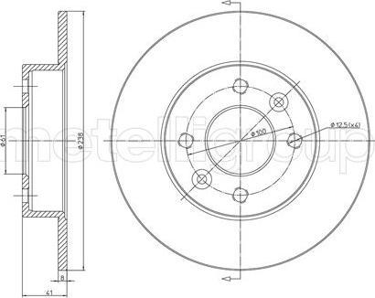Trusting DF030 - Bremžu diski interparts.lv
