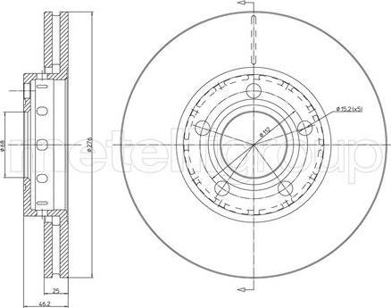 Trusting DF1595 - Bremžu diski interparts.lv