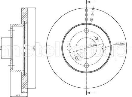 Trusting DF1168 - Bremžu diski interparts.lv