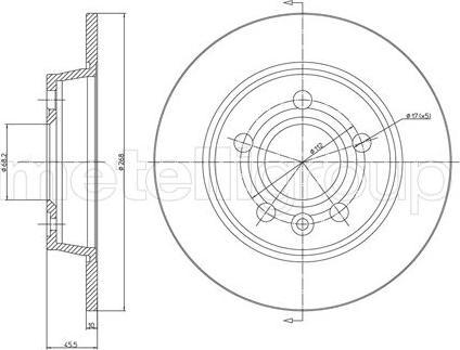 Trusting DF139 - Bremžu diski interparts.lv