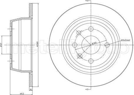 Trusting DF176 - Bremžu diski interparts.lv