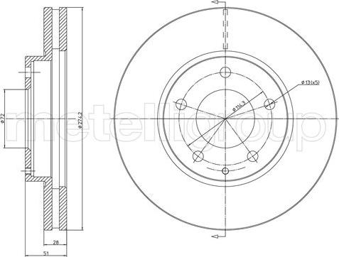 Trusting DF399 - Bremžu diski interparts.lv