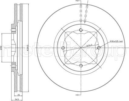 Trusting DF352 - Bremžu diski interparts.lv
