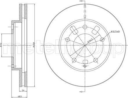 Trusting DF302 - Bremžu diski interparts.lv