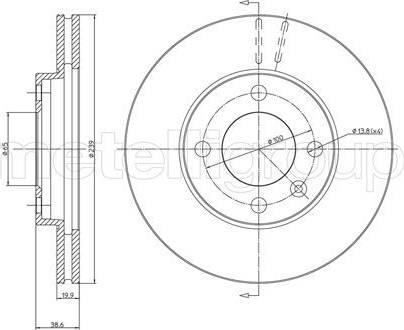 Trusting DF242 - Bremžu diski interparts.lv