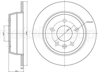 Trusting DF202 - Bremžu diski interparts.lv
