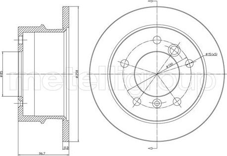 Trusting DF216 - Bremžu diski interparts.lv