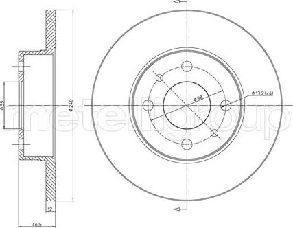 Trusting DF211 - Bremžu diski interparts.lv