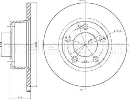 Trusting DF753 - Bremžu diski interparts.lv