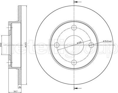 Trusting DF711 - Bremžu diski interparts.lv