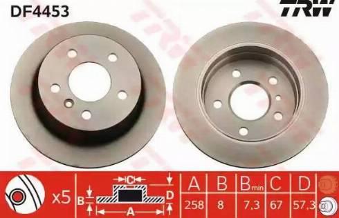 TRW DF4453 - Bremžu diski interparts.lv