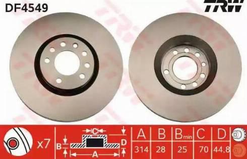 TRW DF4549 - Bremžu diski interparts.lv