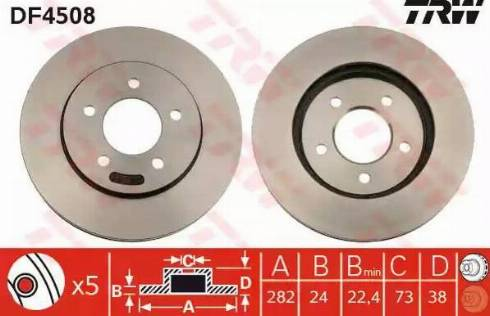 TRW DF4508 - Bremžu diski interparts.lv