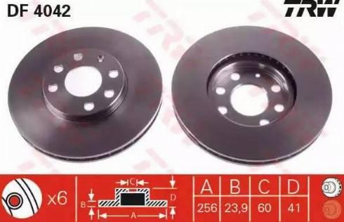 TRW DF4042 - Bremžu diski interparts.lv