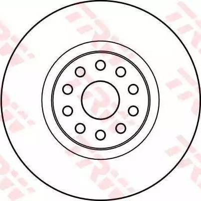 TRW DF4059 - Bremžu diski interparts.lv