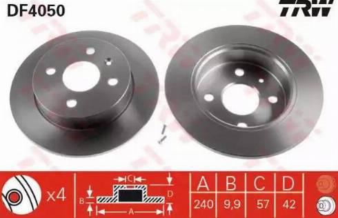 TRW DF4050 - Bremžu diski interparts.lv