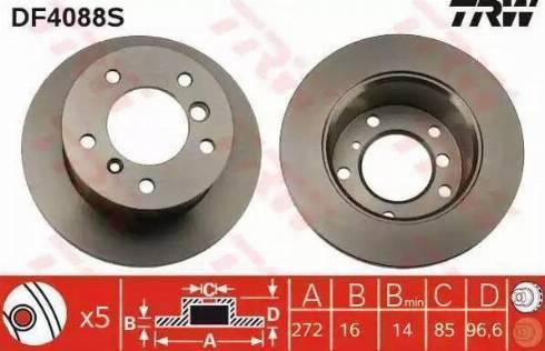 TRW DF4088S - Bremžu diski interparts.lv