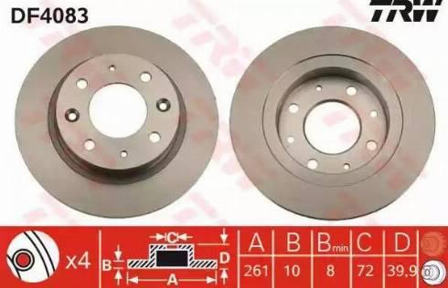 TRW DF4083 - Bremžu diski interparts.lv