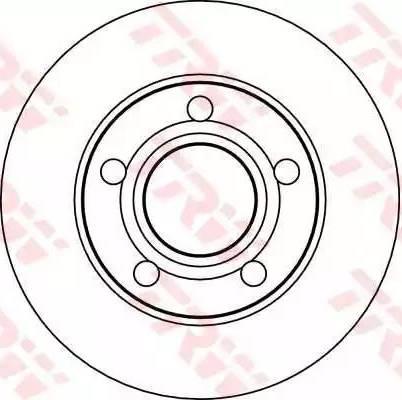 TRW DF4026 - Bremžu diski interparts.lv