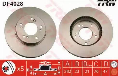 TRW DF4028 - Bremžu diski interparts.lv