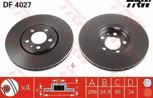 RIDER RD.3325.DF4027 - Bremžu diski interparts.lv