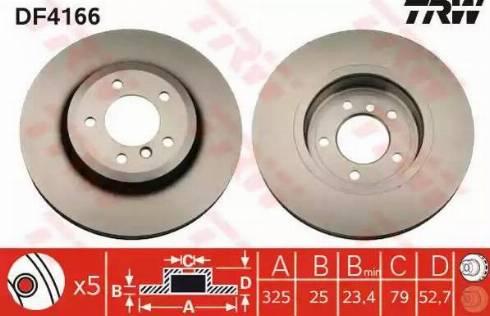 TRW DF4166 - Bremžu diski interparts.lv