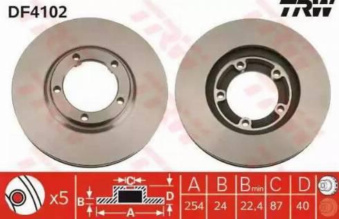 TRW DF4102 - Bremžu diski interparts.lv