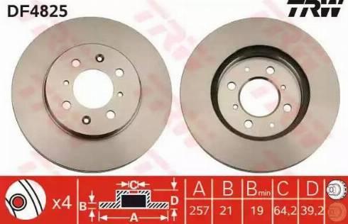 TRW DF4825 - Bremžu diski interparts.lv