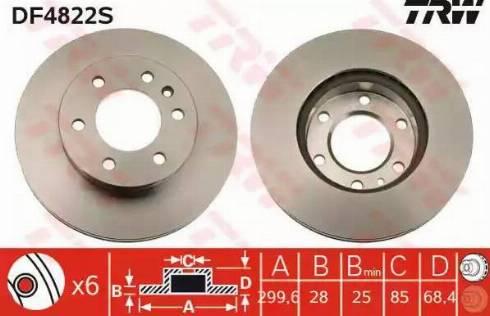 TRW DF4822S - Bremžu diski interparts.lv